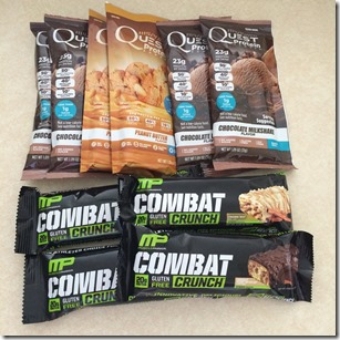 Quest protein and Combat bars